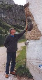 Romano Mazzini in montagna.